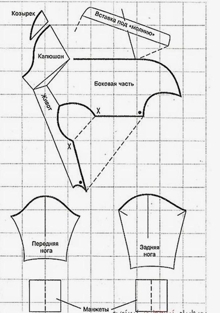 Схема вязания джемпера спицами
