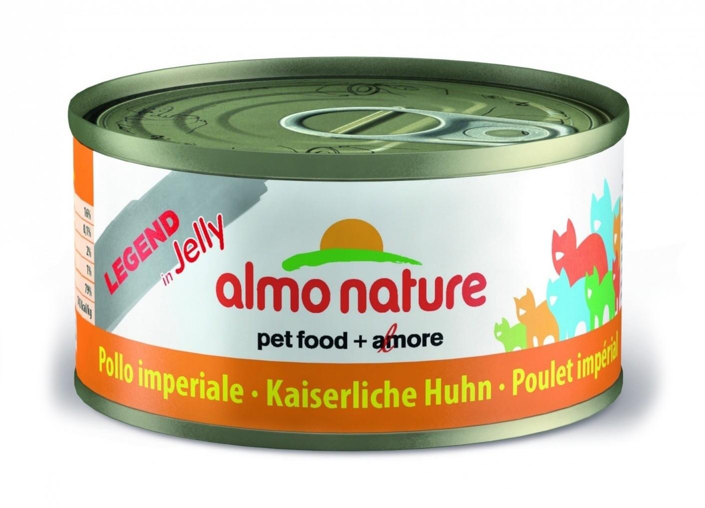 Almo Nature Legend готовится с использованием цельных кусочков мяса, рыбы