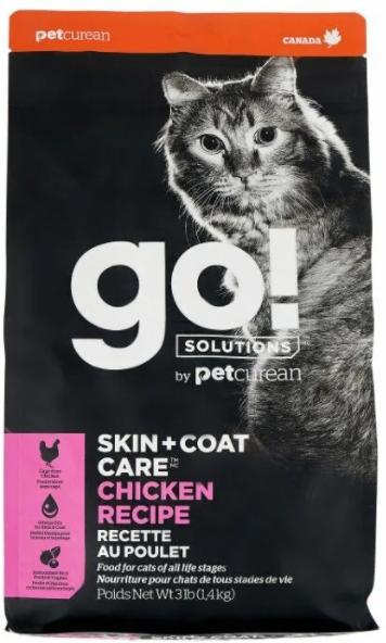 GO! Skin+Coat, для здоровья кожи и блеска шерсти, с курицей